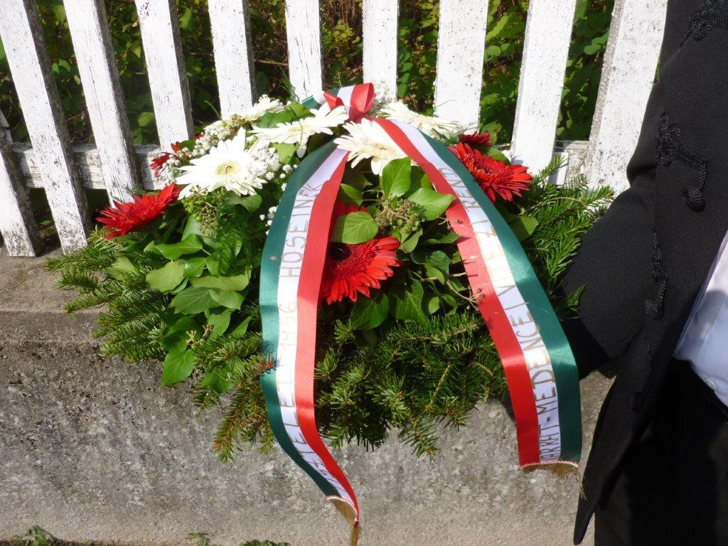 Kárpát-medencei Vitézi Rend  koszorúja Debrecenben