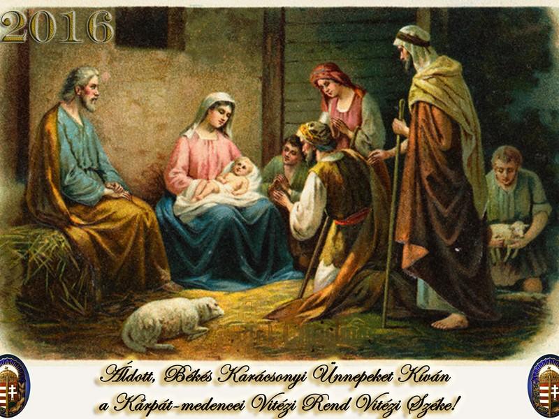 ca. 1909 ---  Postcard with Nativity Scene --- Image by © PoodlesRock/CORBIS